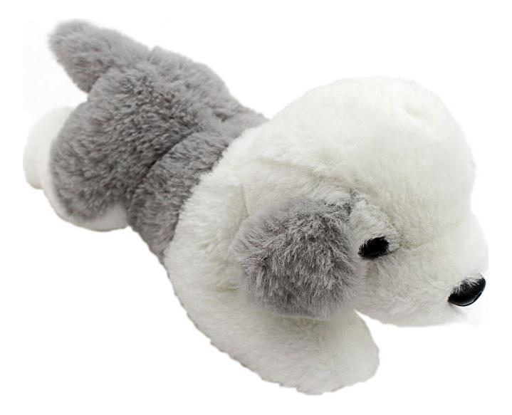 Мягкая игрушка Button Blue Щенок бело-серый, 23 см
