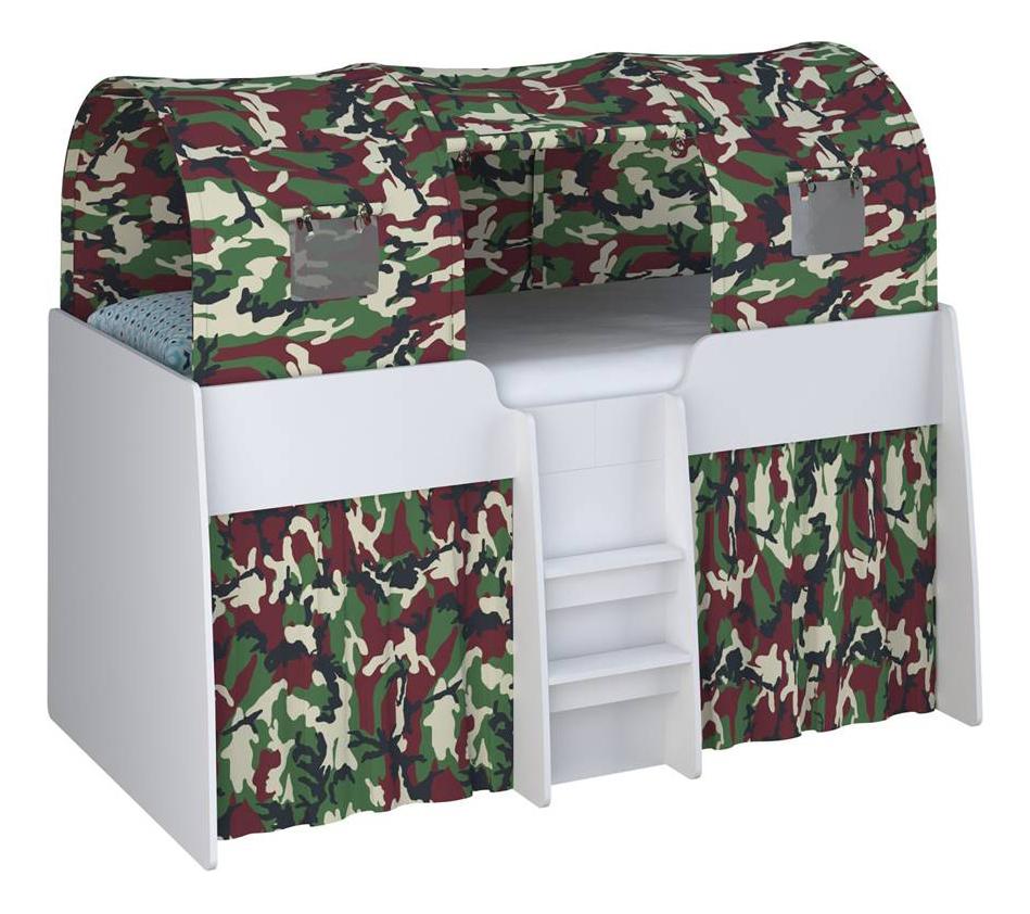 Игровой тент для кровати-чердака Simple 4100 камуфляж Polini 0001592.3