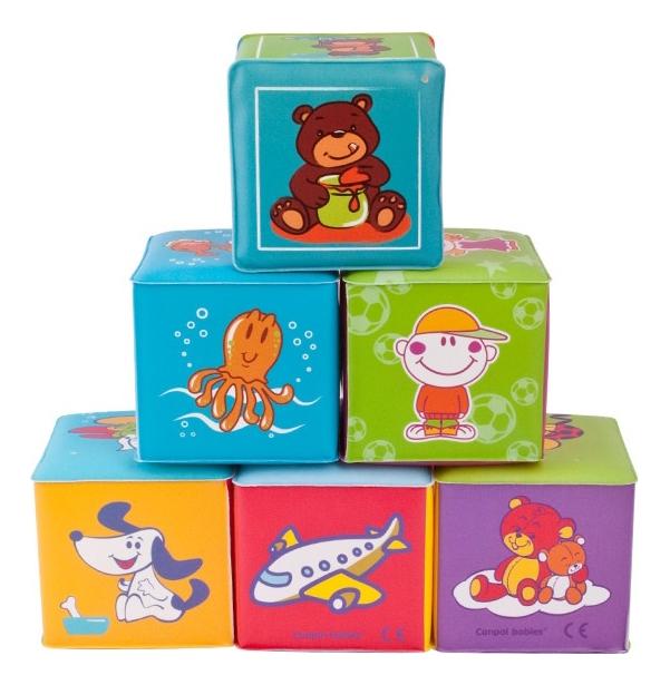 Купить 6 шт., Кубики мягкие 6 шт Canpol Babies, Развивающие кубики