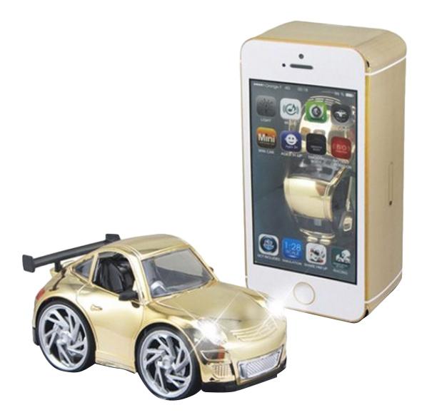 Купить Машина в коробке-смартфоне золотая Shenzhen Toys В62499, Игрушечные машинки
