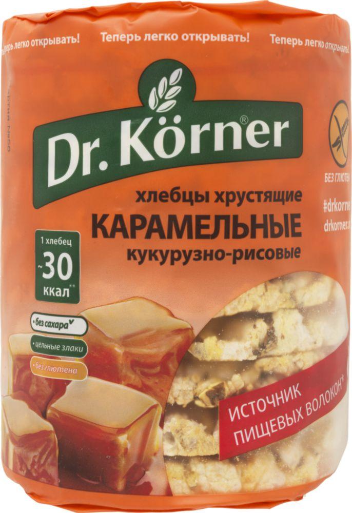 Хлебцы кукурузно-рисовые Dr.Korner карамельные без глютена 90 г