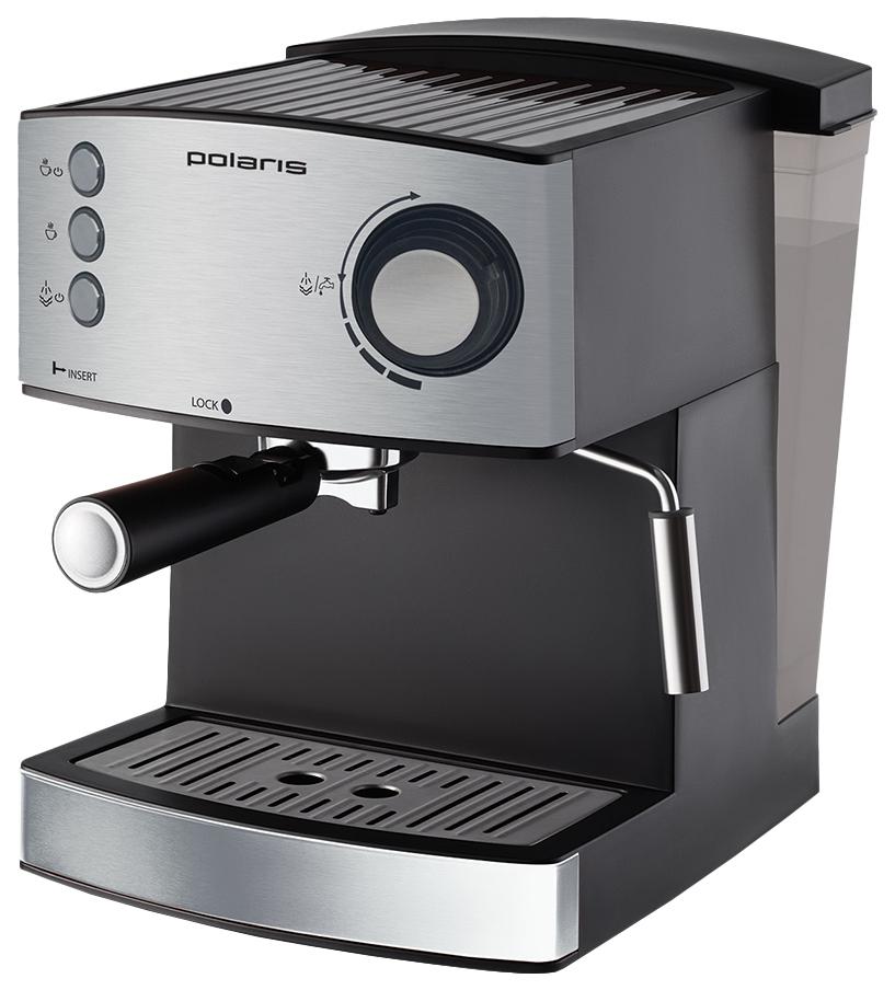 Рожковая кофеварка Polaris PCM 1520AE Adore Crema Silver фото