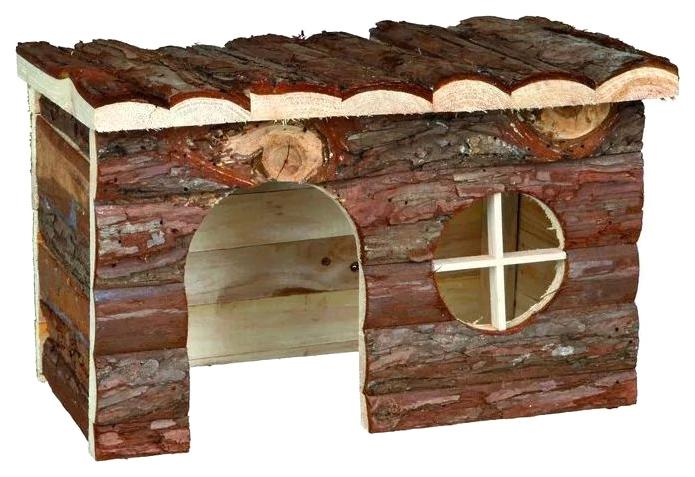 Домик для грызуна TRIXIE дерево, 18х16х28см, цвет коричневый