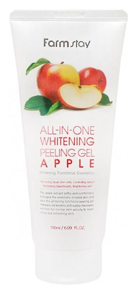 Купить Пилинг для лица Farm Stay All-In-One Whitening Apple Peeling Gel 180 мл, FarmStay