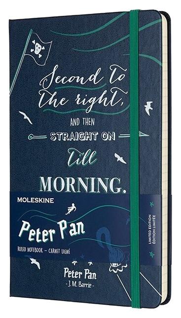 Блокнот Moleskine Peter Pan Large Limited Edition, цвет синий Pirates, в линейку