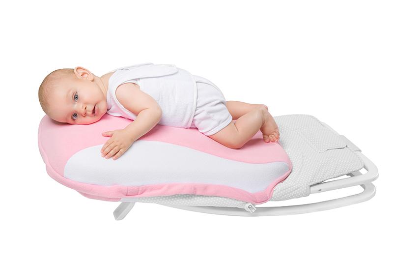 Подушка-матрас Dolce Pad Plus с вибромассажем для новорожденных (розовый)
