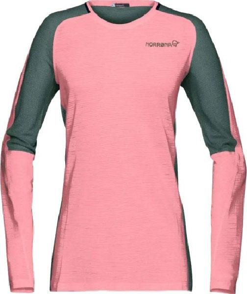 Футболка Norrona Bitihorn Wool женская розовая L