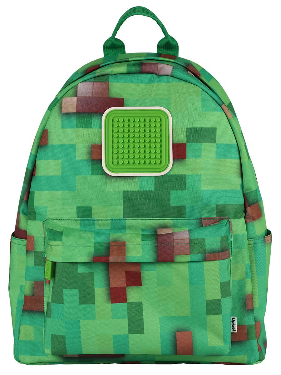 Детский рюкзак Funny square U18-1 Майнкрафт зеленый