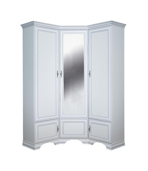 Платяной шкаф BlackRedWhite BRW_00009869 136,5х136,5х225, белый