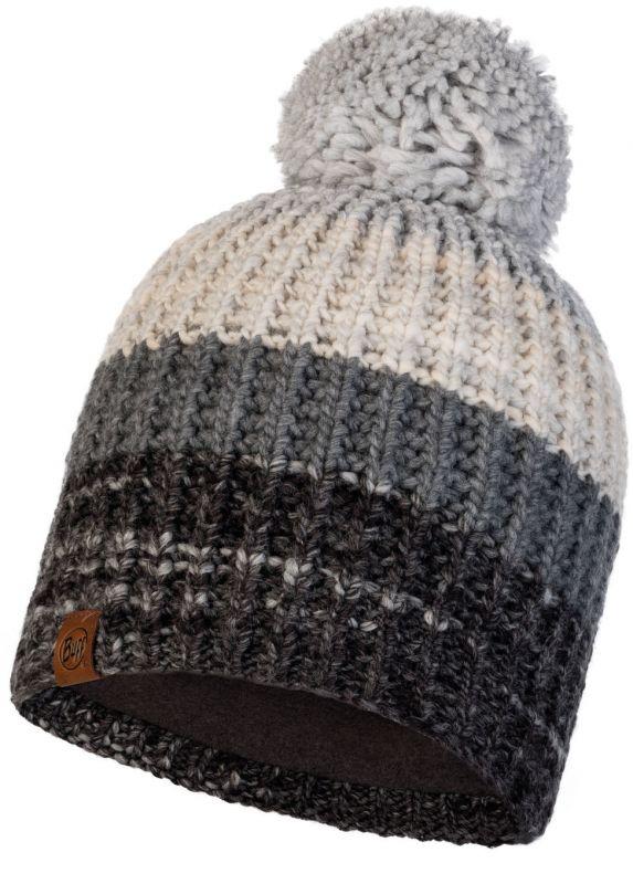 Шапка Buff Knitted&Polar Hat Alina Grey серая