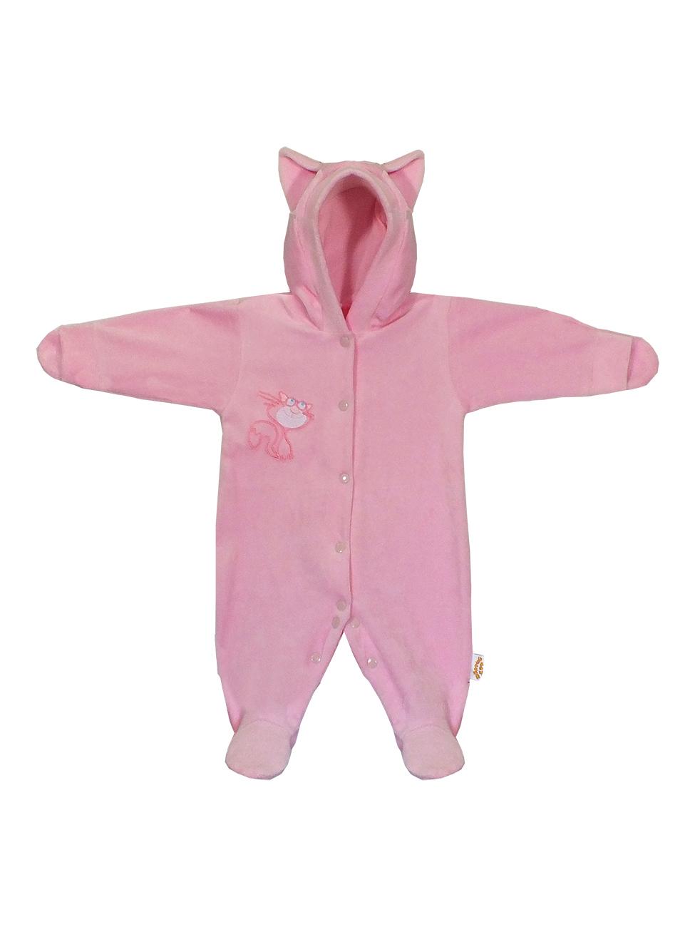 Купить Комбинезон Желтый кот Котик розовый, размер 56, Повседневные комбинезоны и полукомбинезоны для девочек