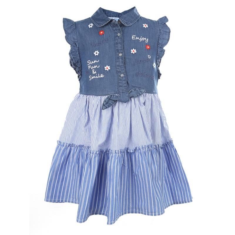 Купить Платье MAYORAL, цв. синий, 128 р-р, Детские платья и сарафаны