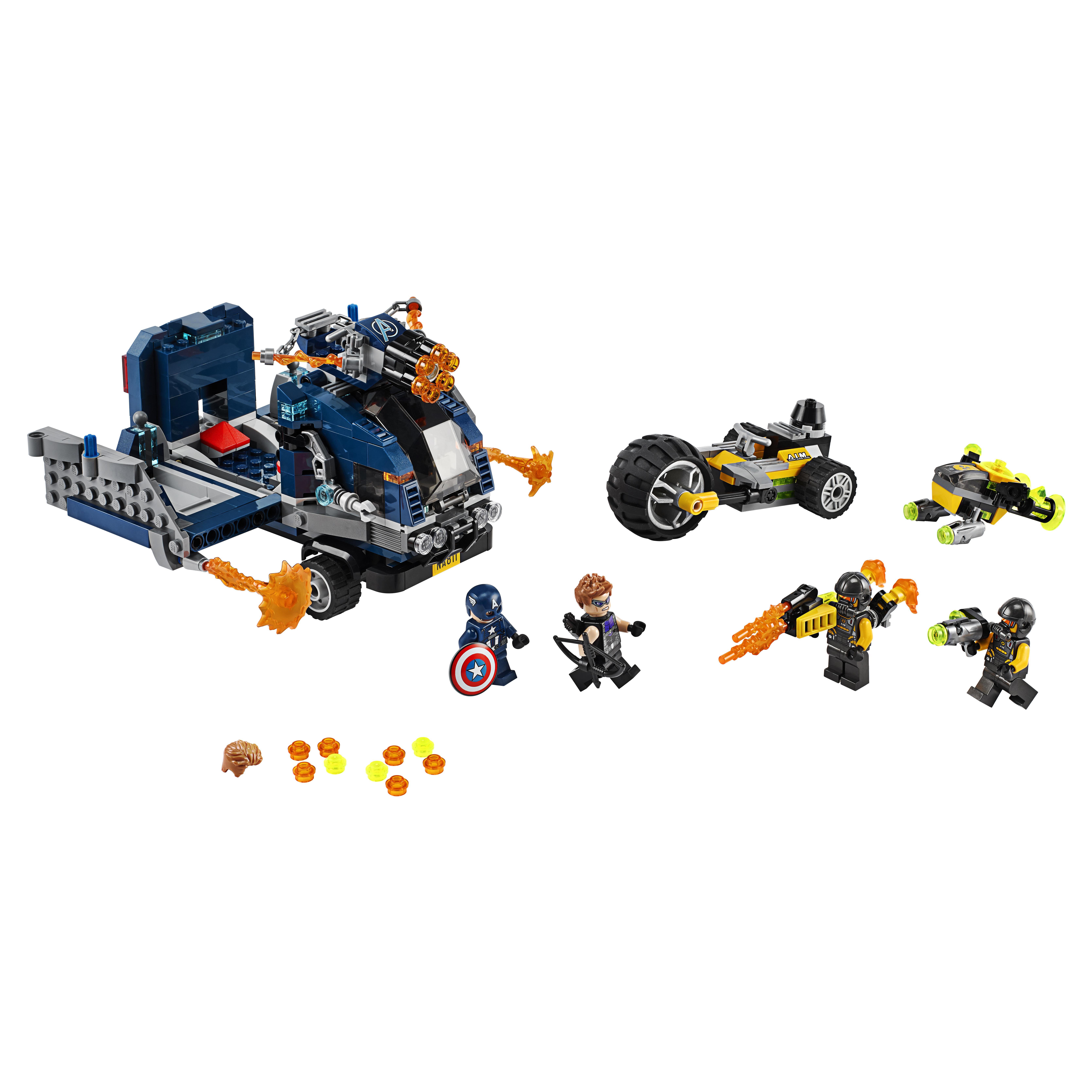 Купить Конструктор LEGO Marvel Avengers Movie 4 76143 Мстители: Нападение на грузовик, LEGO Super Heroes