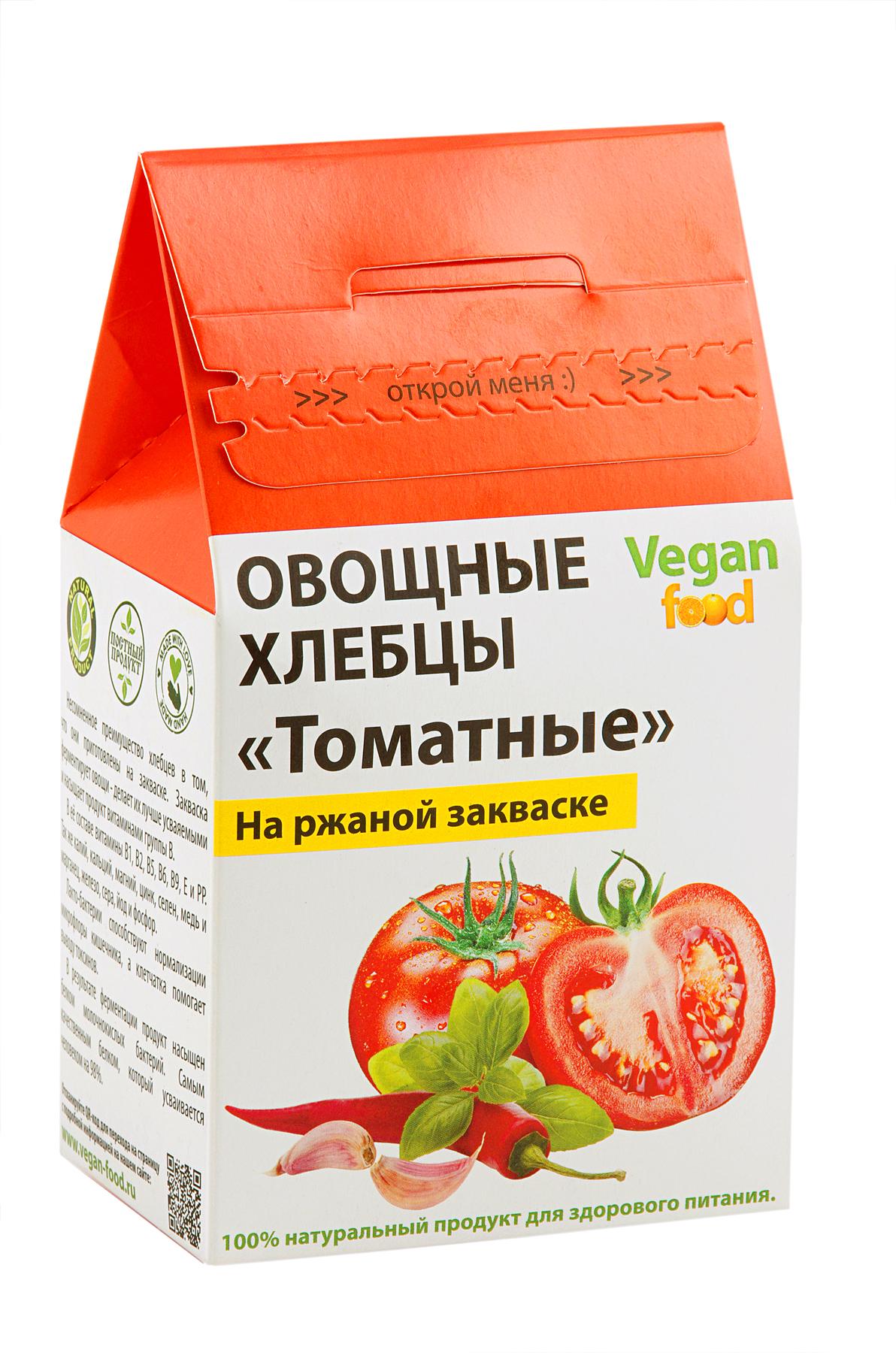 Хлебцы Vegan-food овощные на закваске томатные 100 г фото