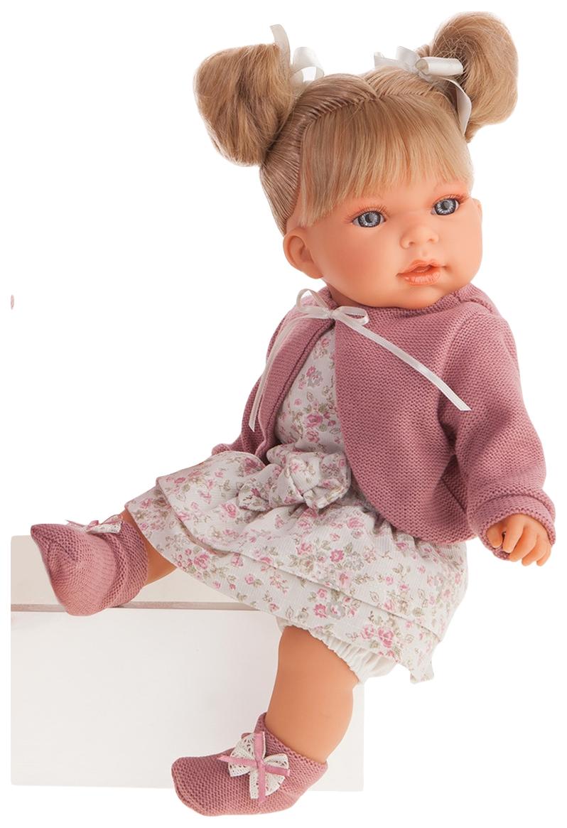 Купить Кукла озвученная Альма , в фиолетовом, 37 см, Antonio Juan, Классические куклы