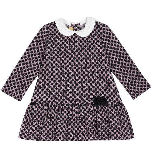 Купить 9003506, Платье детское Chicco длинный рукав р. 104 цв.розовый, Платья для девочек