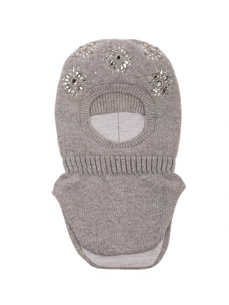 Купить Шапка-шлем ALEKSA, 56-58 цвет светло-серый, Шапка для девочек