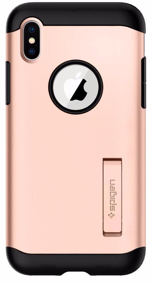 Чехол Spigen Slim Armor для Apple Apple iPhone X Gold (057CS22140)