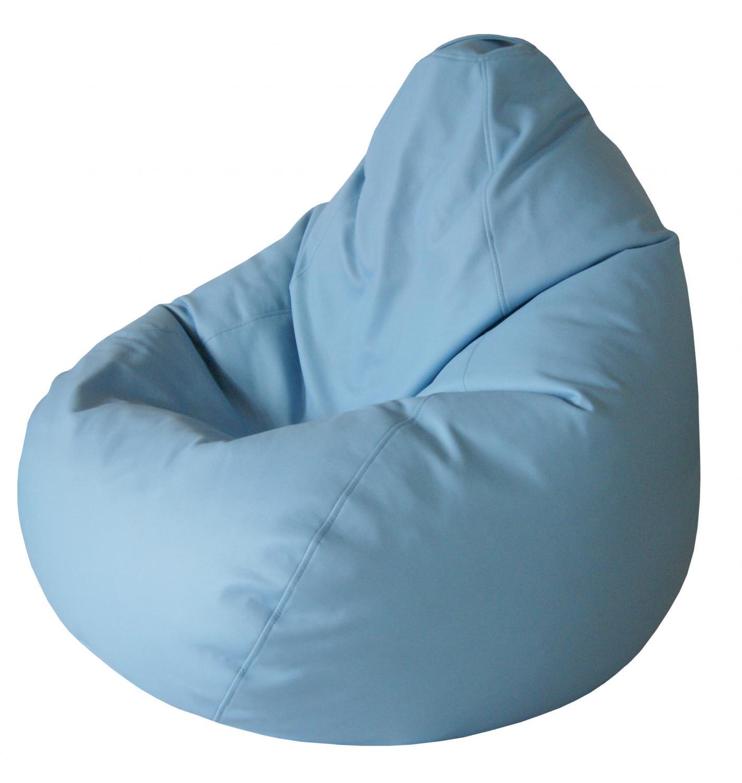 Кресло-мешок Папа Пуф Экокожа Голубой, размер XL, экокожа, голубой фото