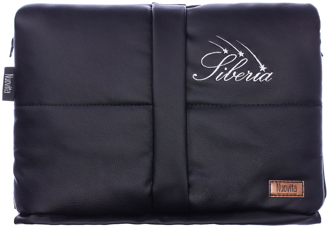 Муфта меховая для коляски Nuovita Siberia Lux Bianco черная