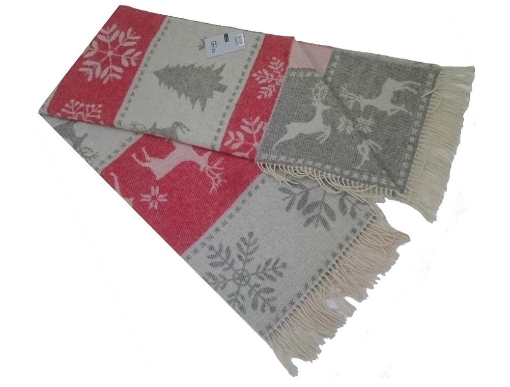 Плед VLADI Oleni Цвет: Белый, Серый, Красный 140х200 см