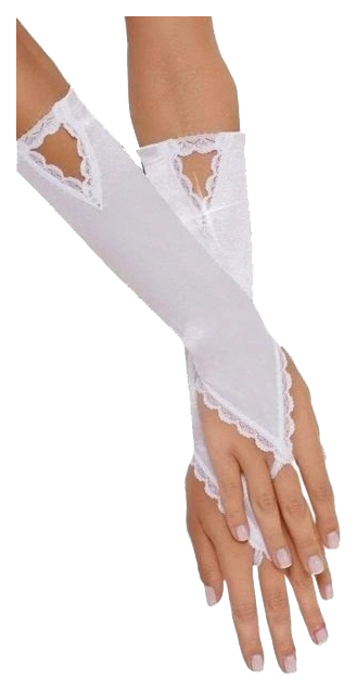 Перчатки атласные короткие SoftLine Collection, белый, S/L от Soft Line