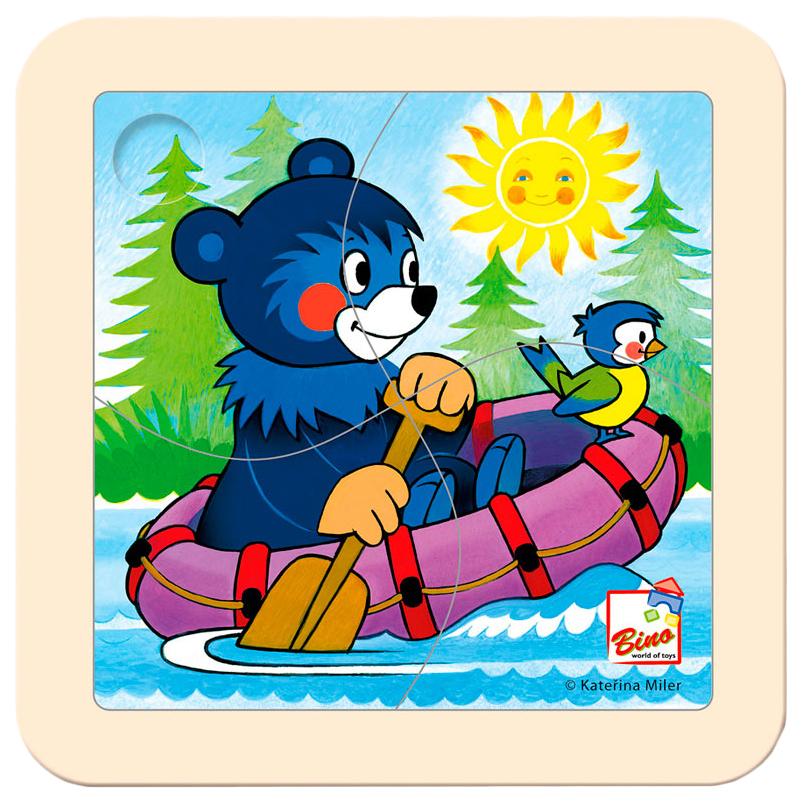 Пазлы Spiegelburg Медвежонок на лодке 13201 4 детали фото