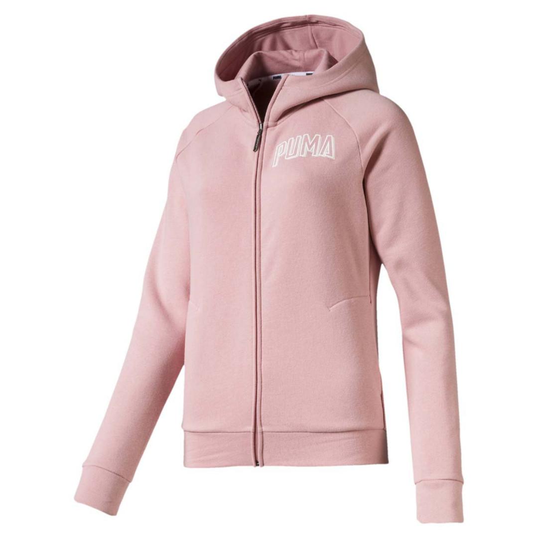 Толстовка Puma Athletics Hooded Full Zip, pink, XS фото