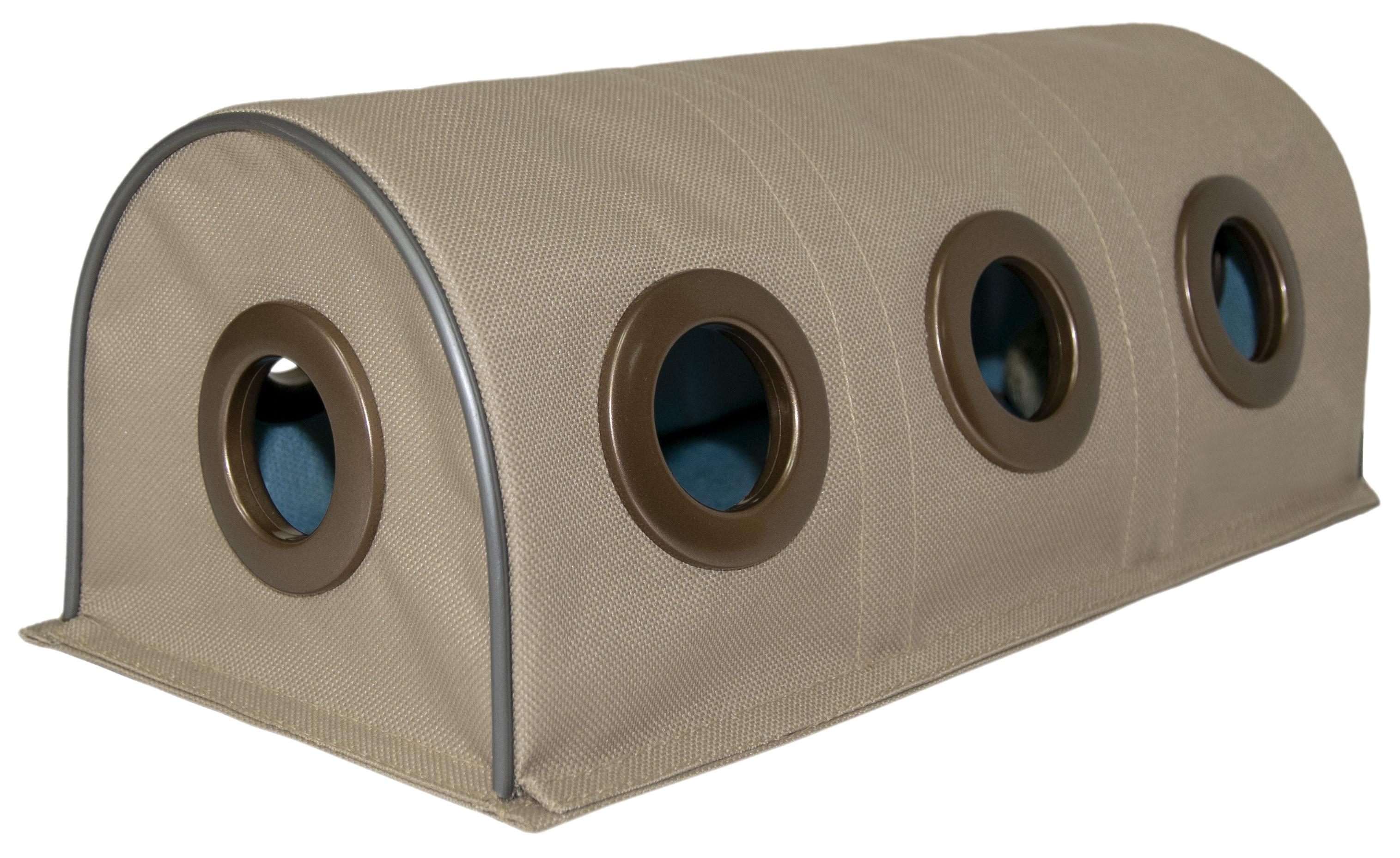 Тоннель для кошек Великий Кот, интерактивная игрушка, с мятным мячиком, бежевый