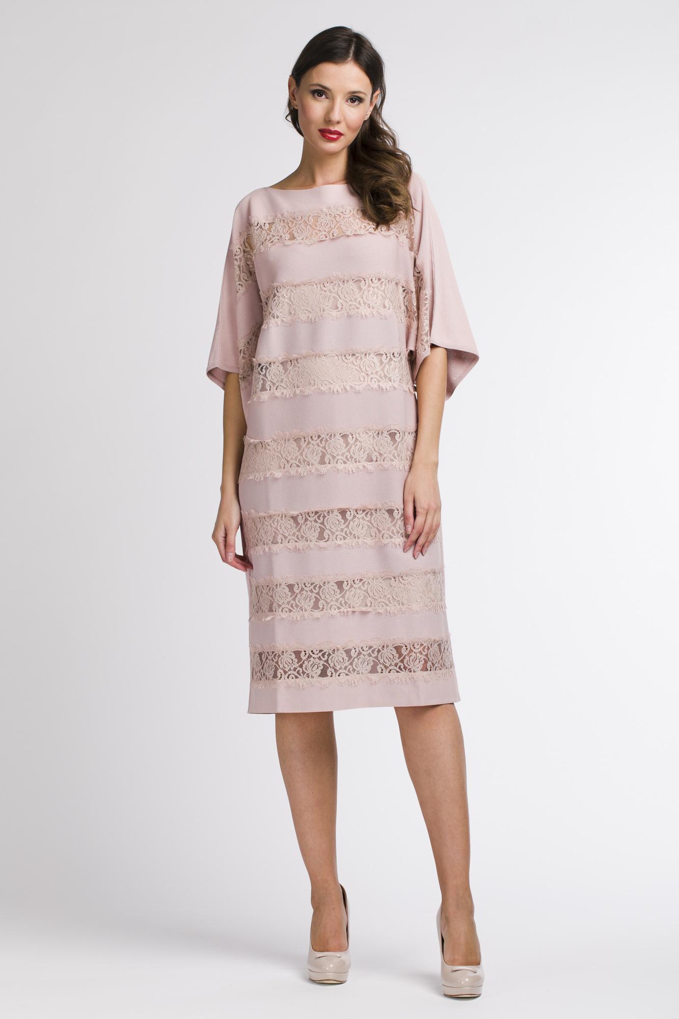 Платье женское Blumarine 1046 BLUMARINE SS18 розовое 40 IT фото