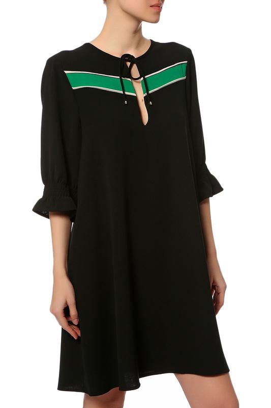 Платье женское ANNA RITA N E18508CD009/900 черное 46 IT фото