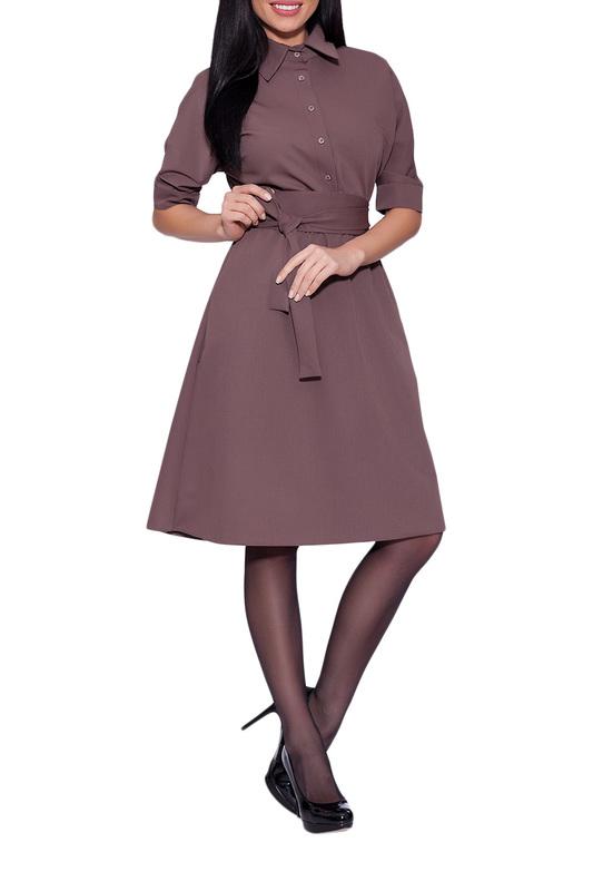 Платье женское EMANSIPE 2010131 коричневое 52 RU фото