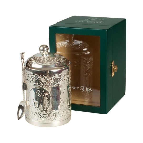 Чай зеленый Ти Тэнг серебряные типсы в чайнице 50 г