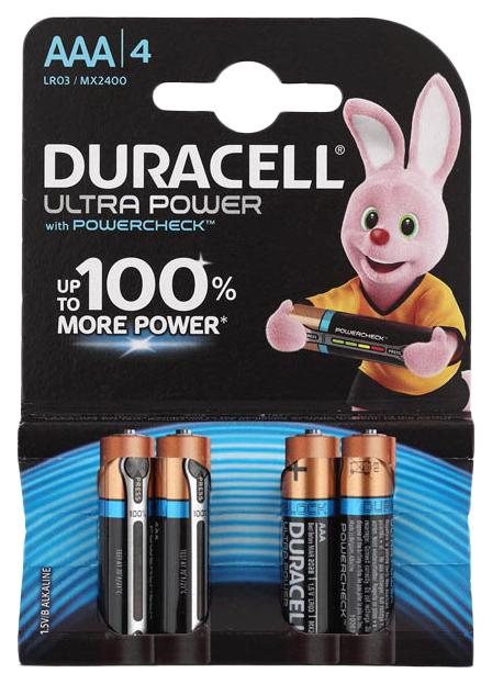 Батарейка Duracell Ultra Power LR03-4S 4 шт