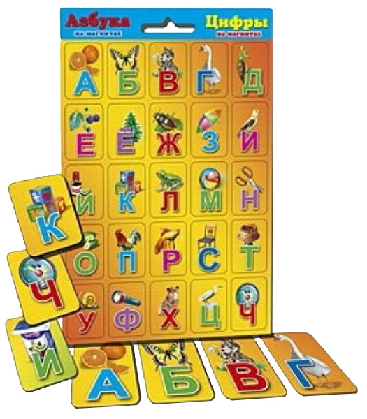 Семейная настольная игра Рыжий кот Азбука и цифры АМ-7260 синяя мини