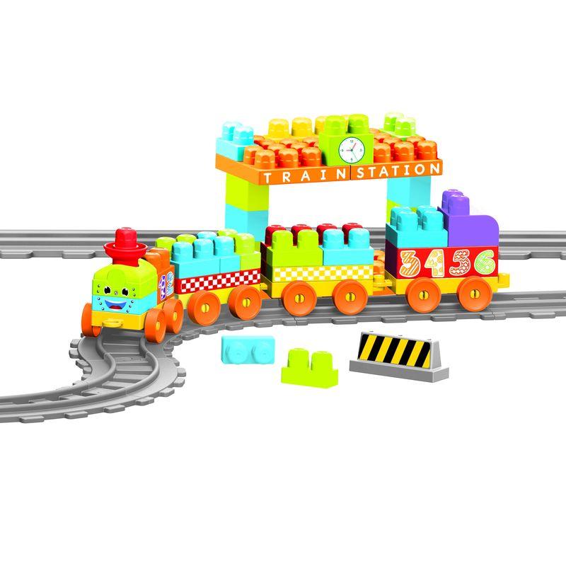 Купить Моя первая железная дорога с конструктором Dolu 89 элементов 335 см DL_5082, Детские железные дороги