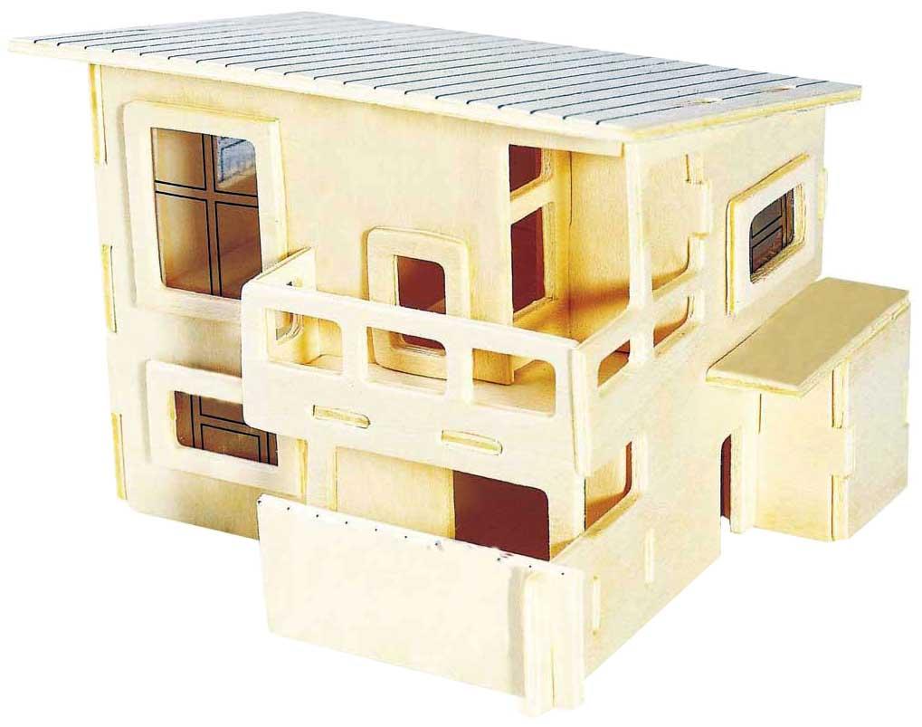 Купить Сборная деревянная модель Wooden Toys Летний домик, Модели для сборки