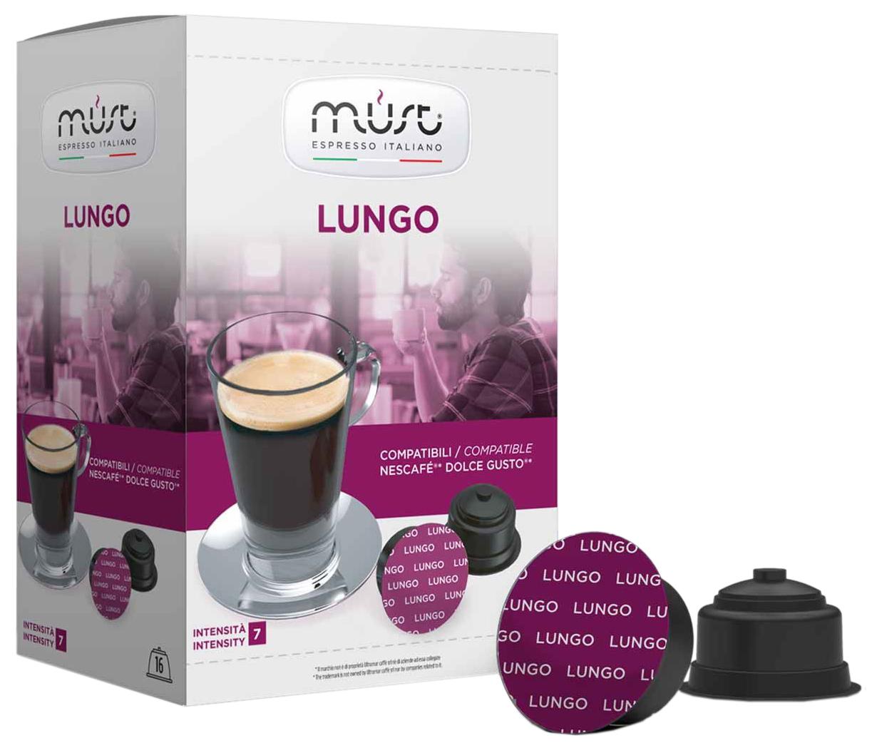 Кофе в капсулах Must lungo 16 капсул