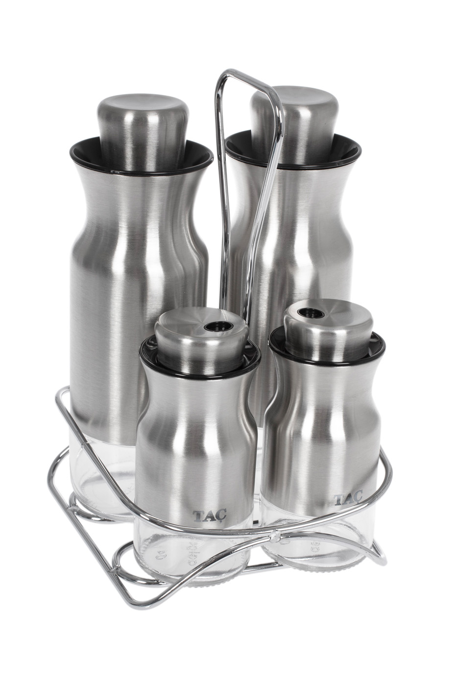 Набор для масла и специй TAC, 5 предметов, серебряный
