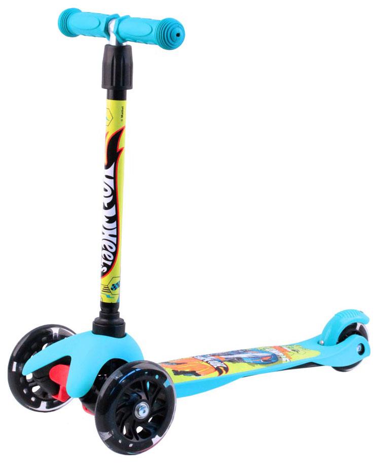Кикборд детский Hot Wheels HW4PB1 голубой