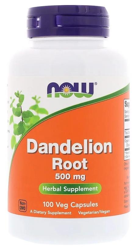 Купить Добавка для здоровья NOW Dandelion Root 100 капс. натуральный
