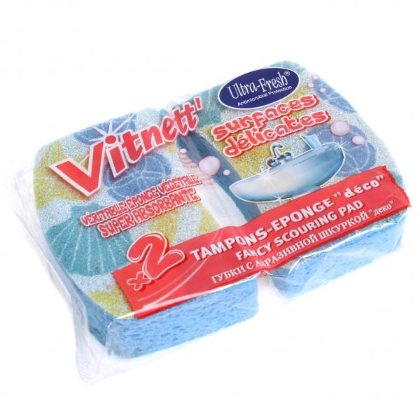 Губки натуральные Rozenbal с декоративной шкуркой для ванной