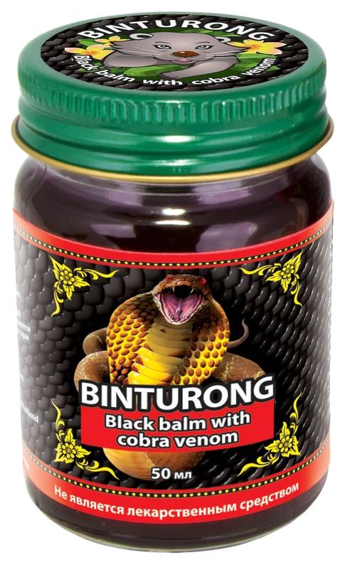 Купить Бальзам Binturong с ядом кобры черный 50 г
