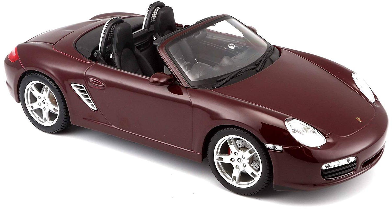 Купить Машинка Maisto 1:18 Porsche Boxster S 2005 года, бордовая, Игрушечные машинки