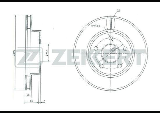 Тормозной диск ZEKKERT BS-5192 фото