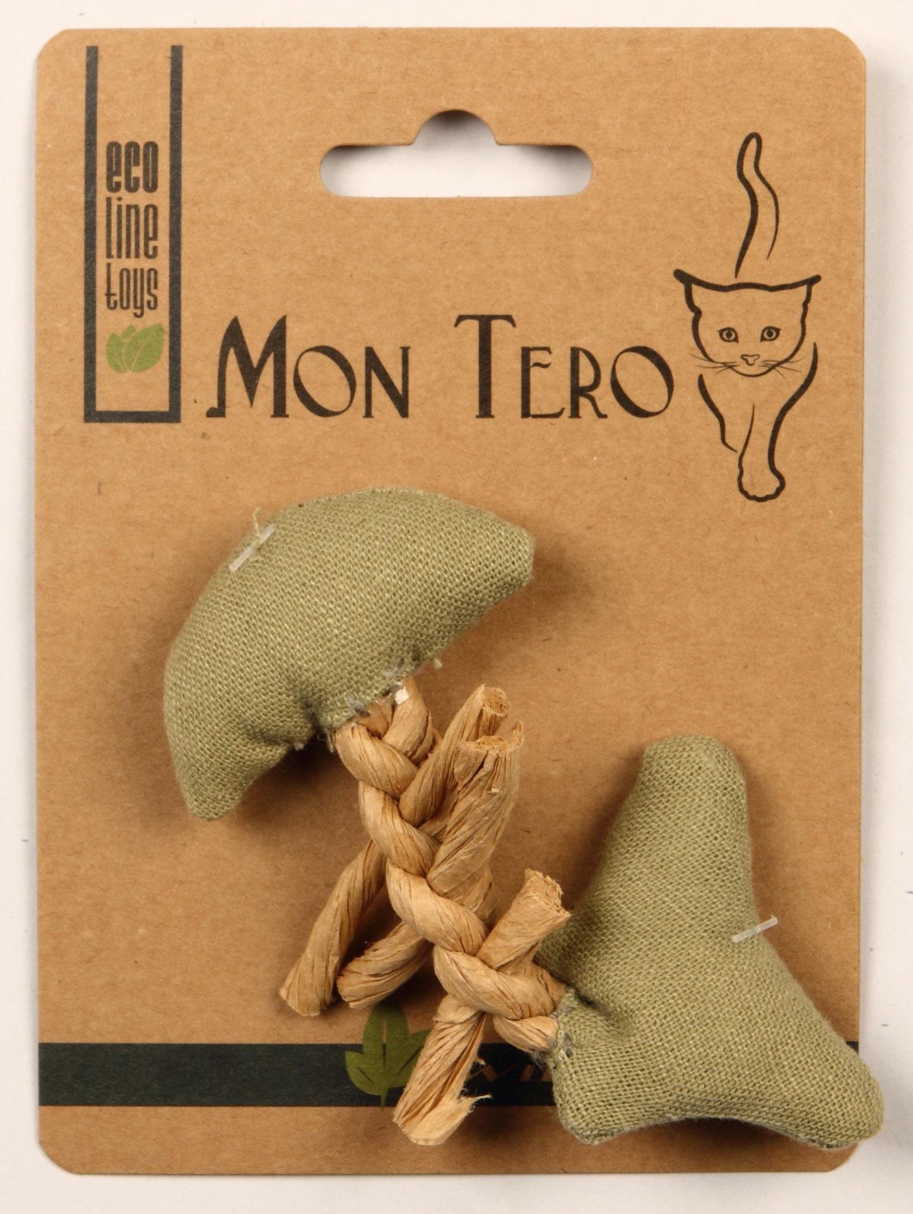 Игрушка для кошек Мон Теро Эко Рыбья кость, зеленый, 11 см