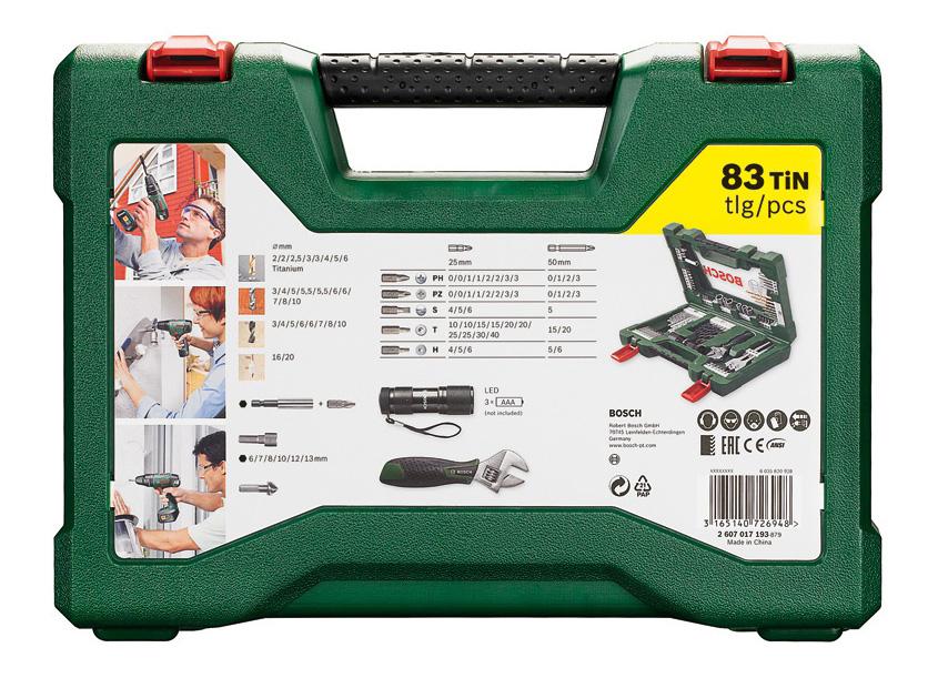 Наборы бит и сверл для дрелей, шуруповертов Bosch V-Line-83 2607017193 набор принадлежностей V-Line-83