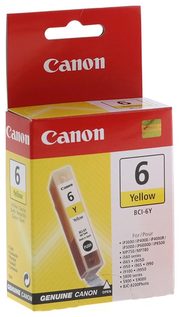 Картридж для струйного принтера Canon BCI-6Y (4708A002) желтый, оригинал фото