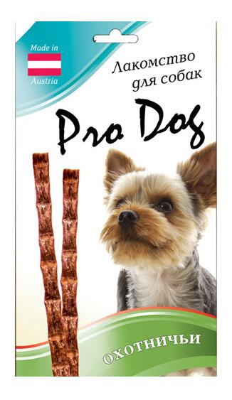 Лакомство для собак PRO DOG Лакомые палочки охотничьи 45г фото