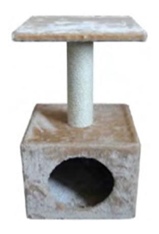 Домик для кошек MAJOR Домик, бежевый, 30х30х57 см фото